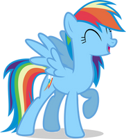 Mlp Fim Rainbow Dash (let's work together) Vector by luckreza8