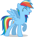 Mlp Fim Rainbow Dash (let's work together) Vector