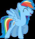 Mlp Fim Rainbow Dash (let's work together) Vector