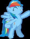 Mlp Fim Rainbow Dash (stands) Vector