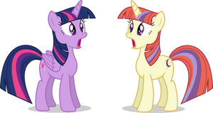 Mlp Fim Twilight S And Moon D (this twin?) Vector