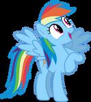Mlp Fim Rainbow Dash (wow) Vector