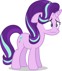 Mlp Fim Starlight Glimmer (worry) vector by luckreza8
