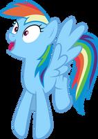 Mlp Fim Rainbow Dash (oh wondefull) vector by luckreza8