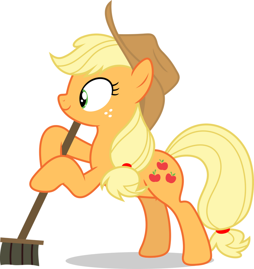 Mlp Fim Applejack (sweep,sweep,sweep) vector by luckreza8