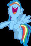 Mlp Fim Rainbow Dash (yeah...) vector