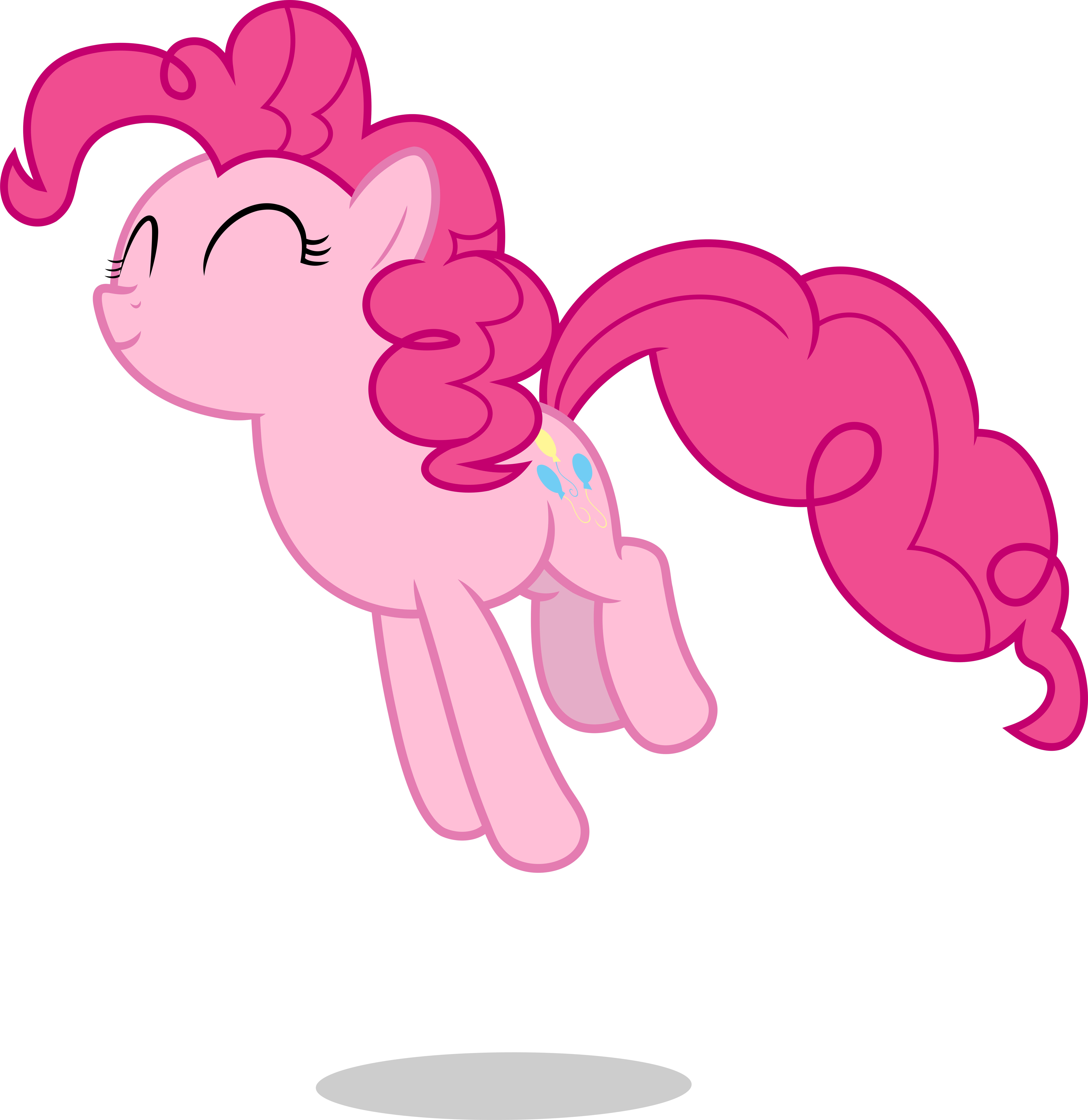 mlp fim pinkie pie jump vector by luckreza8