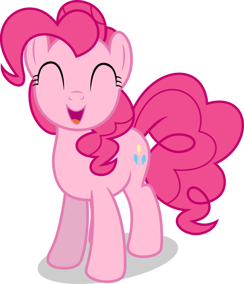 mlp fim pinkie pie happy vector by luckreza8