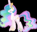 Mlp Fim Princess Celestia (smile) vector