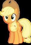 Mlp Fim Applejack (happy) vector