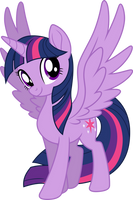 Mlp Fim New Twilight Sparkle (happy) vector by luckreza8