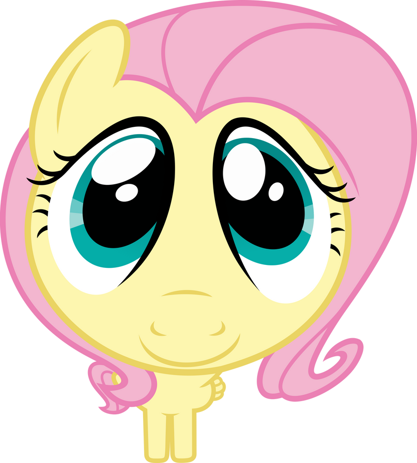 Mlp Fim Fluttershy (cute face) vector by luckreza8 on ...
