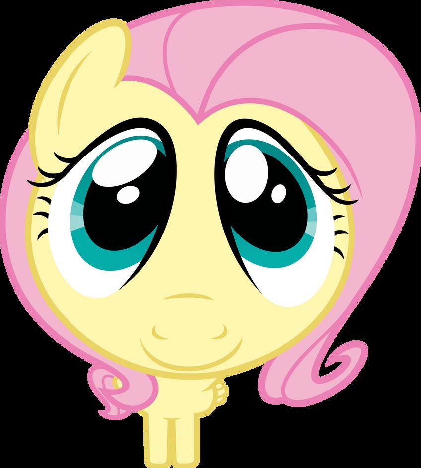 Mlp Fim Fluttershy (cute face) vector by luckreza8 on ...