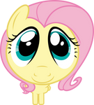 Mlp Fim Fluttershy (cute face) vector