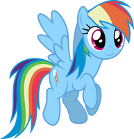 Mlp Fim Rainbow Dash (...) vector #2 by luckreza8