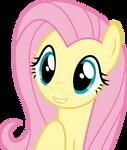 Mlp Fim Fluttershy (happy) vector #3