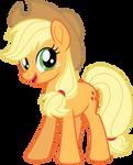Mlp Fim New Applejack (happy) vector