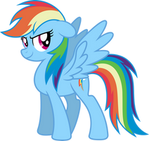 Mlp Fim New Rainbow Dash (happy) vector by luckreza8