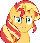 Mlp Fim Sunset Shimmer (i don't know) vector