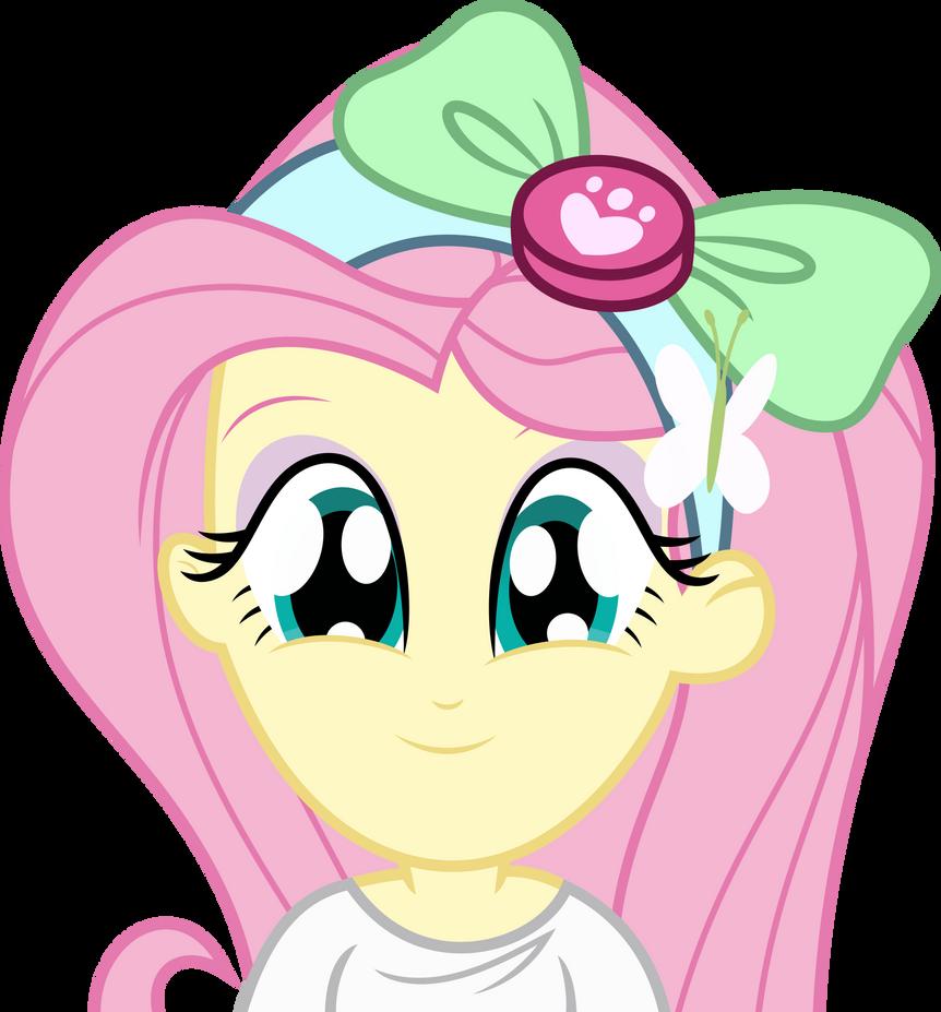 Mlp EqG Fluttershy (cute face) vector by luckreza8