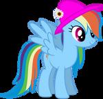 Mlp Fim Rainbow Dash (happy) vector #2