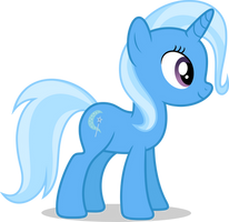 Mlp Fim Trixie (happy) vector #2 by luckreza8