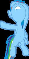 Mlp Fim Rainbow Dash (uh...) vector by luckreza8
