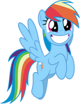 Mlp Fim Rainbow dash (this awesome) vector