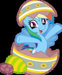Mlp Fim Rainbow Dash (surprise) vector