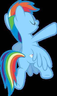 Mlp Fim Rainbow Dash (...) vector #6