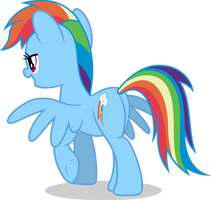 Mlp Fim Rainbow Dash (...) #2 vector by luckreza8