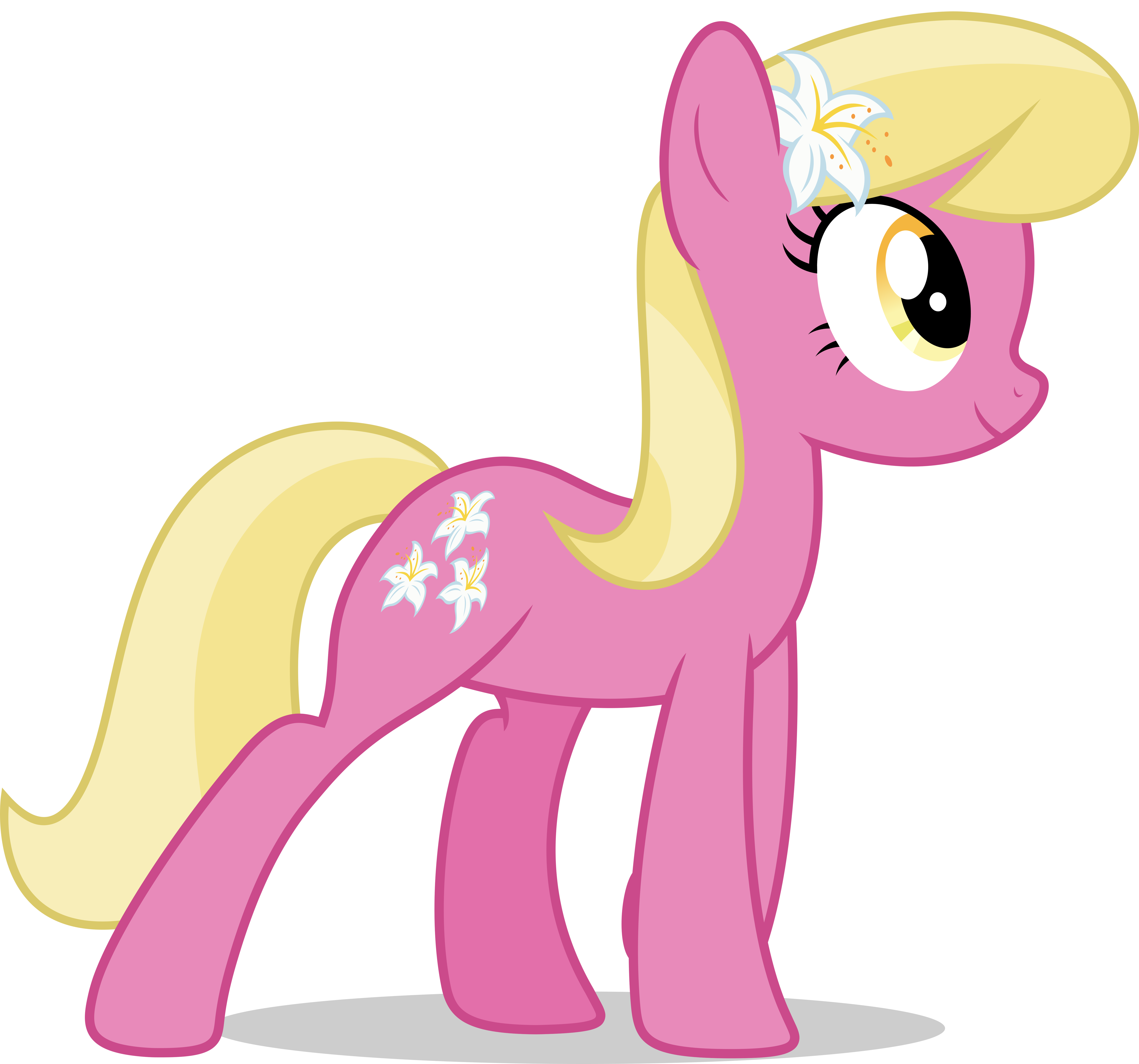 Mlp Fim Lily Valley (happy) Vector By Luckreza8 On DeviantArt