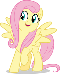 Mlp Fim Fluttershy (happy) vector #6 by luckreza8