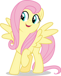 Mlp Fim Fluttershy (happy) vector #6