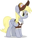 Mlp Fim Derpy Hooves (happy) vector