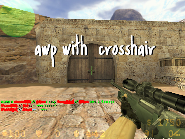 how to get a crosshair for awp