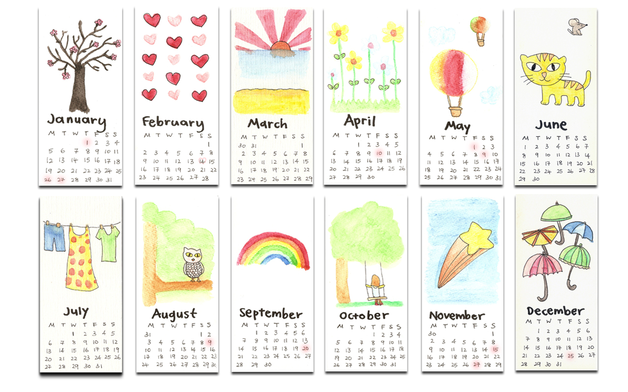 Chinese Calendar Illustration : Calendar İllustration artwork design articles and