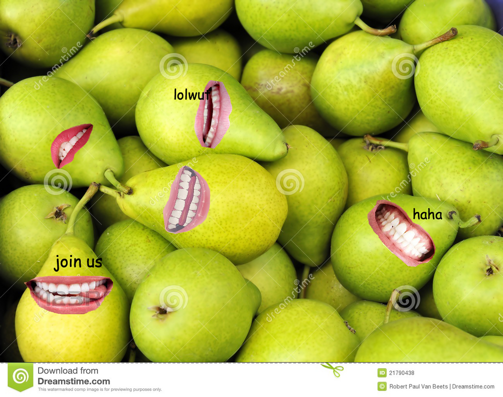 biting pears by FreeingMyCreativity