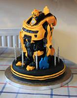 Bumblebee Transformer Cake by KatesKakes