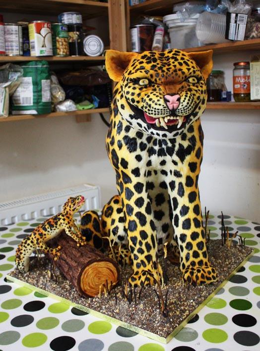 Gold Medal Winning Leopard Cake