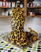 Gold Medal Winning Leopard Cake by KatesKakes