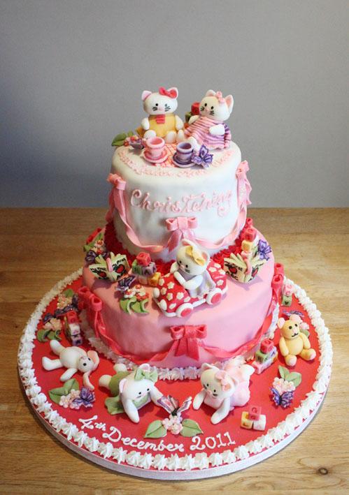 Christmas Christening.Hello Kitty Christening Cake By Kateskakes On Deviantart