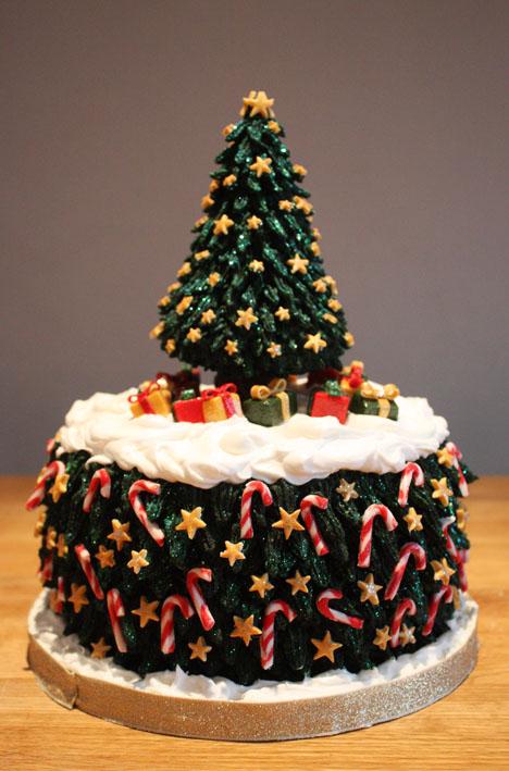 Christmas Cake Decorations Christmas Tree : Christmas Tree Christmas Cake by KatesKakes on DeviantArt