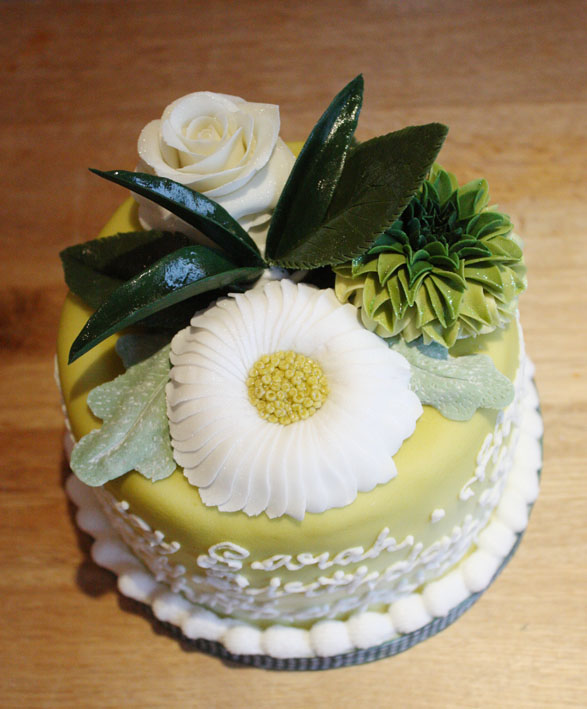 Flower Cake by KatesKakes