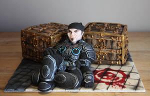 Gears of War Cake by KatesKakes