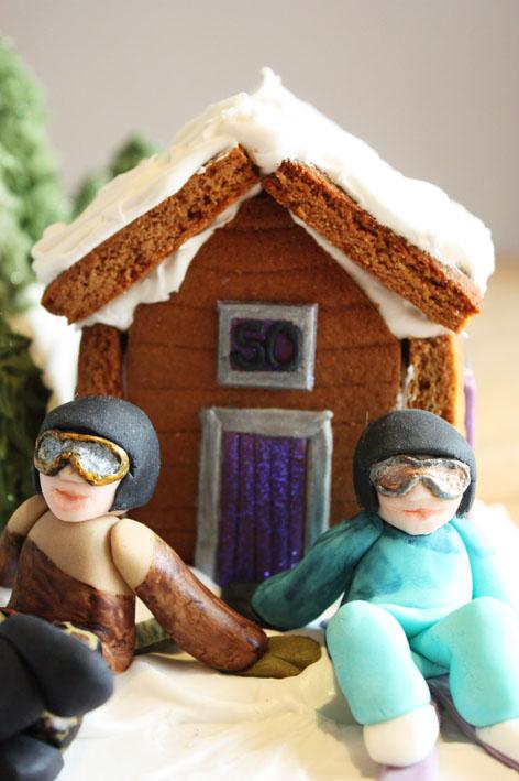 Ski Slope Cake by KatesKakes