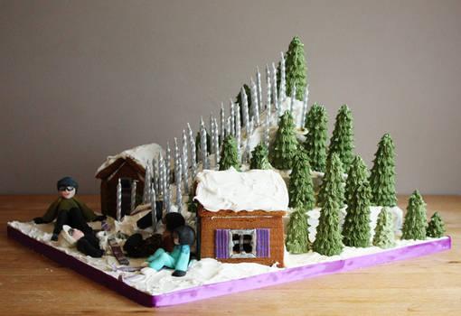 Ski Slope Cake