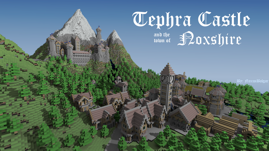 скачать карту для майнкрафт 1.5.2 средневековый город с замком #2