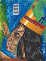 Maya Queen 1330th rule anniversary - Reina Maya by tlacuilopilo