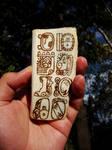 Maya writing in bone. Escritura maya. by tlacuilopilo
